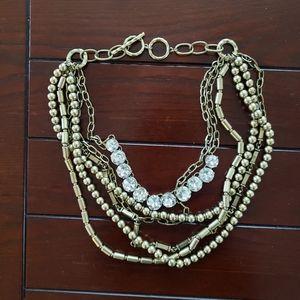 Gold Multi-Strand Statement Necklace